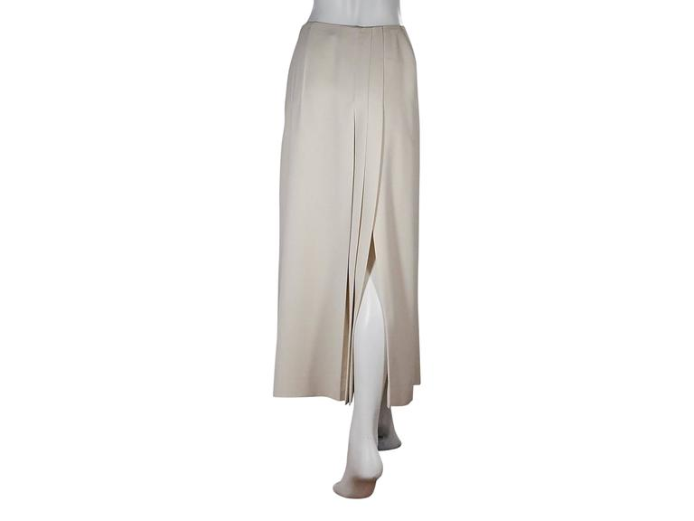 Ivory Chanel Pleated Long Skirt 3