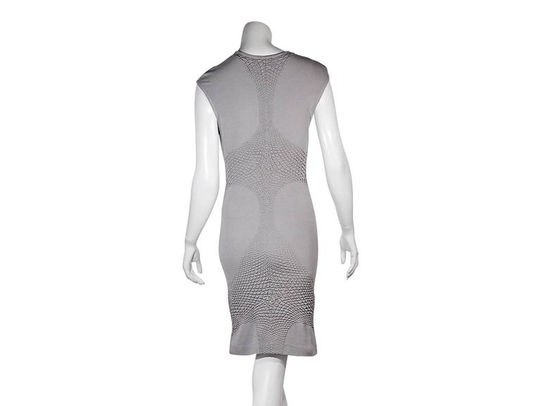 762e43e1b84 Grey Alexander McQueen Knit Dress For Sale at 1stdibs