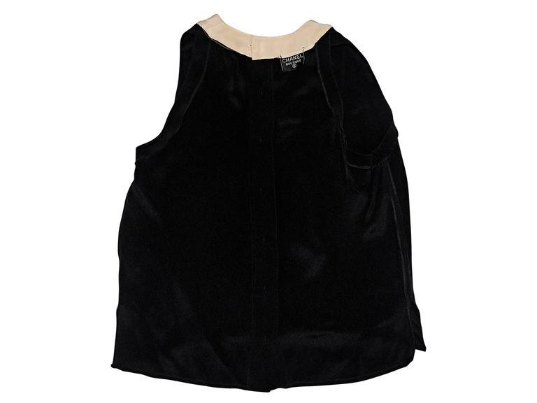 Black & Tan Vintage Chanel Tank Top 4