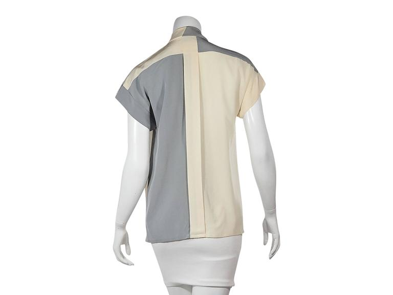 Tan & Grey Vintage Chanel Button-Front Shirt 3