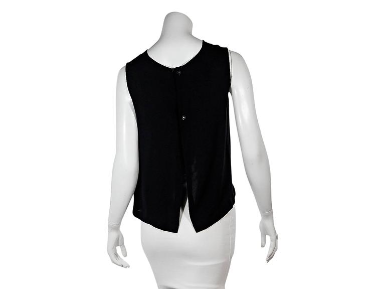 Black Vintage Chanel Tulip Tank Top In Excellent Condition For Sale In New York, NY