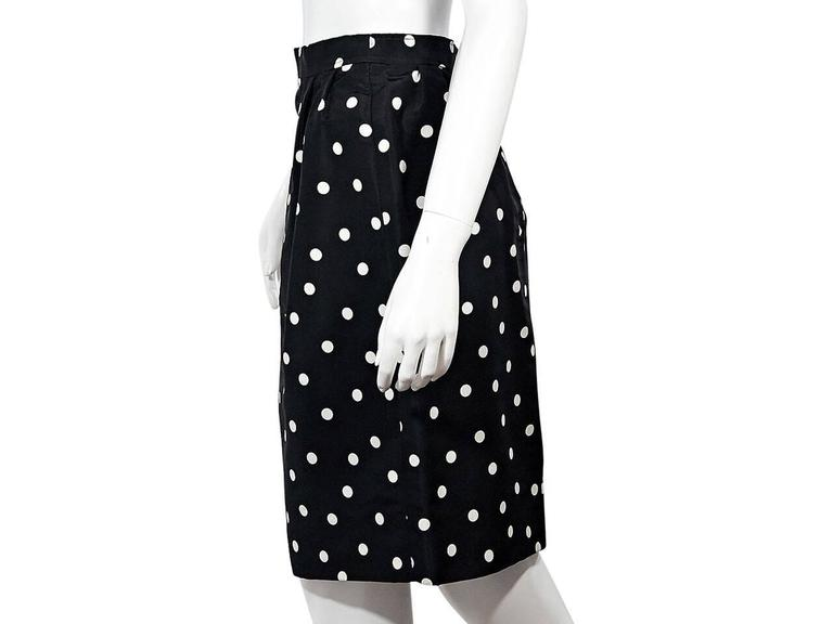 Black & White Vintage Chanel Polka Dot Skirt 3