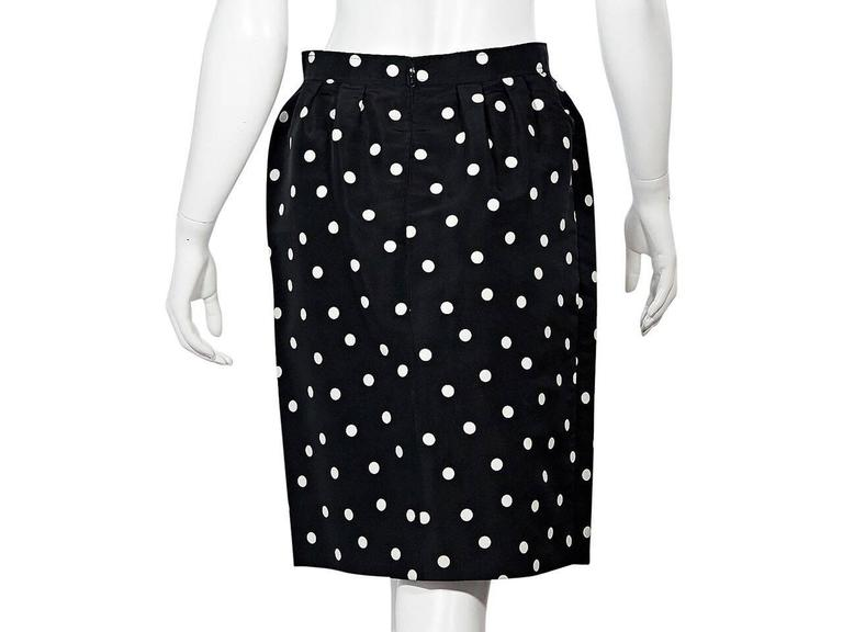 Black & White Vintage Chanel Polka Dot Skirt 2