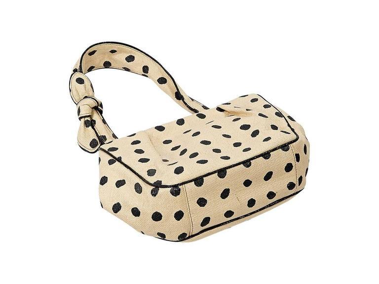 Tan & Black Alaia Raffia Shoulder Bag 3