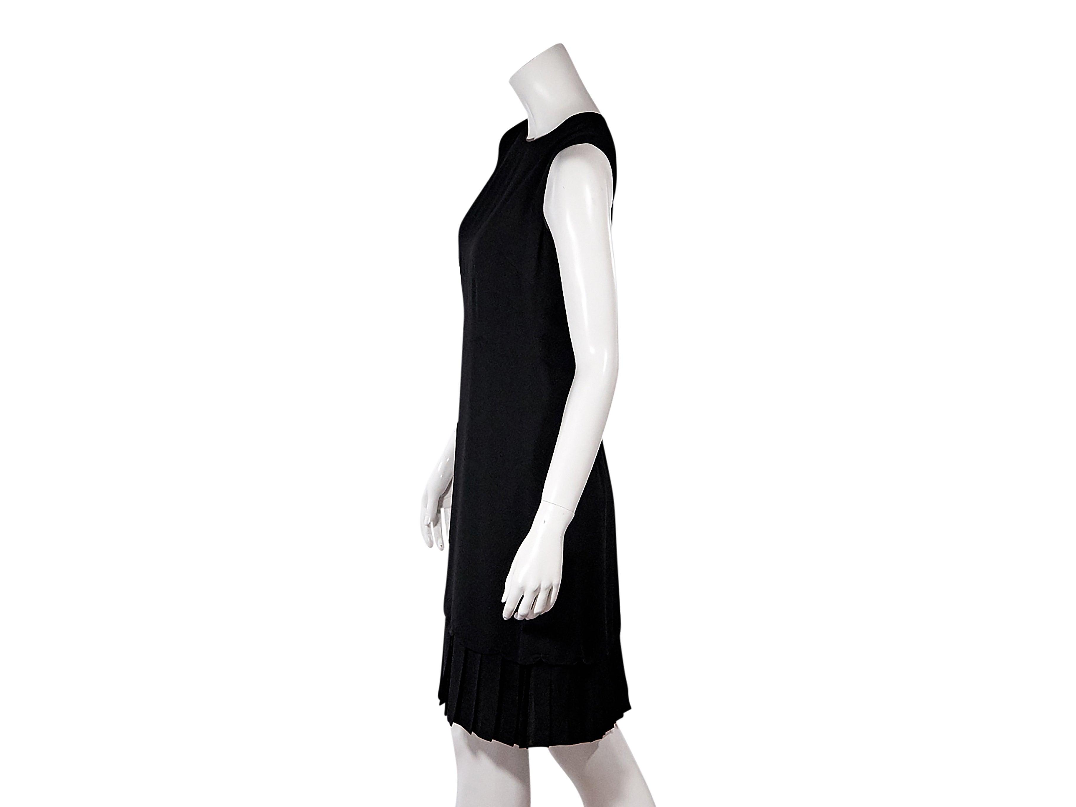 7846862c2c5 Black Prada Pleated-Hem Sheath Dress at 1stdibs
