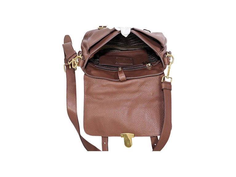 b5ca51c9e4eb Prada Messenger Bag Brown Leather | Stanford Center for Opportunity ...