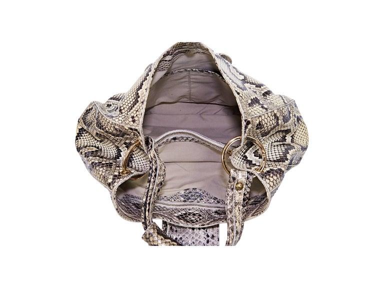 Beige Tod's Python Hobo Bag 3