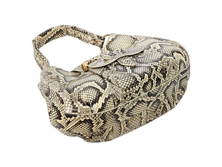 Beige Tod's Python Hobo Bag 5