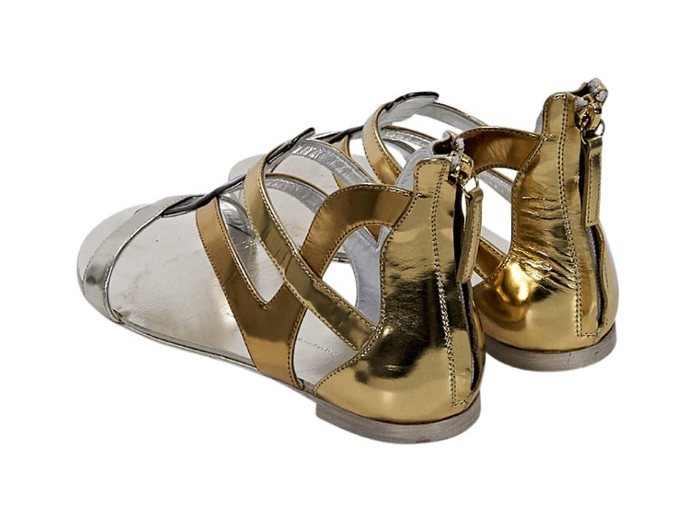 Multicolor Giuseppe Zanotti Metallic Gladiator Sandals In Good Condition For Sale In New York, NY