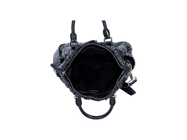 Black Prada Nappa Leather Gaufre Satchel 3