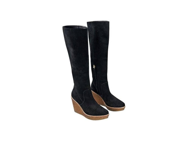 Black Vince Camuto Tall Suede Boots For Sale At 1stdibs