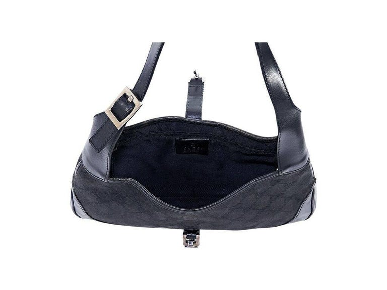 Women's Black Gucci Small GG Jackie Shoulder Bag For Sale