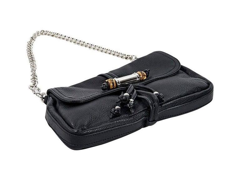 Black Gucci Leather Marrakech Shoulder Bag 3