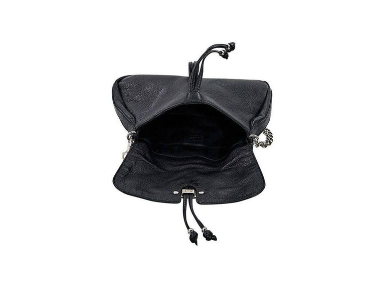 Women's Black Gucci Leather Marrakech Shoulder Bag For Sale