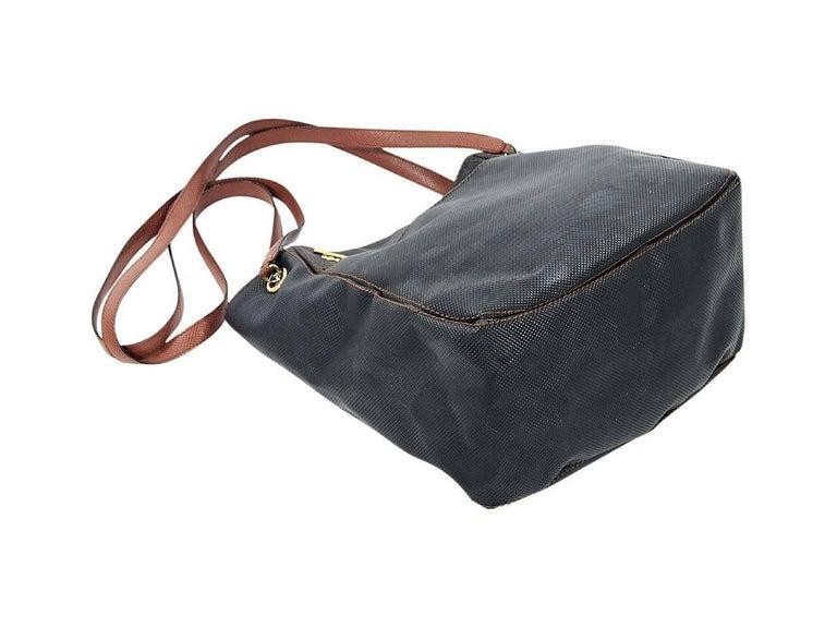 Black Bottega Veneta Embossed Leather Bag In Good Condition For Sale In New York, NY