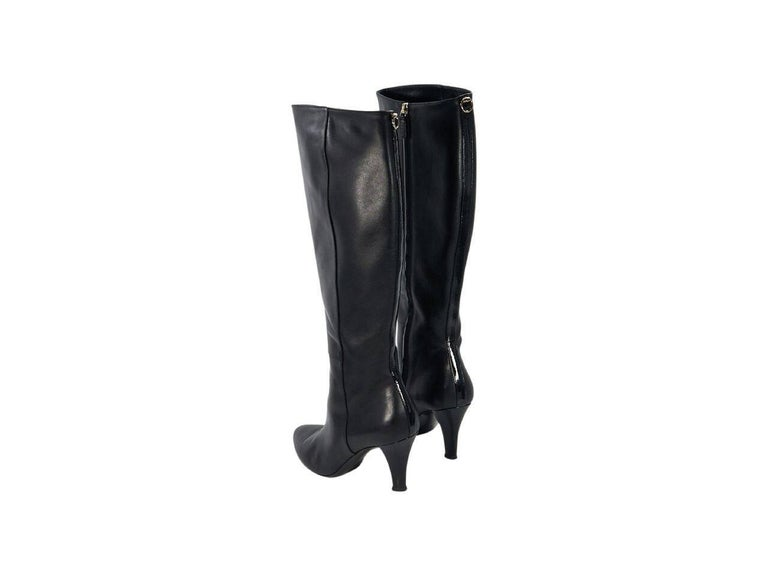 788dc45ab8d6 Black Gucci Leather Knee High Boots For Sale At 1stdibs