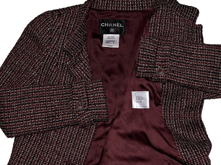 Multicolor Chanel Boucle Jacket For Sale 1
