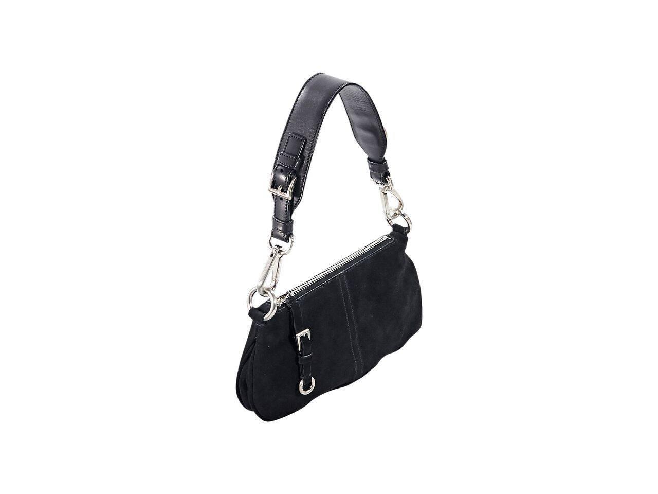 f985c1dcbd3f Black Prada Suede Small Shoulder Bag For Sale at 1stdibs