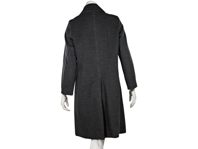 Grey Burberry London Wool Coat In Excellent Condition For Sale In New York, NY