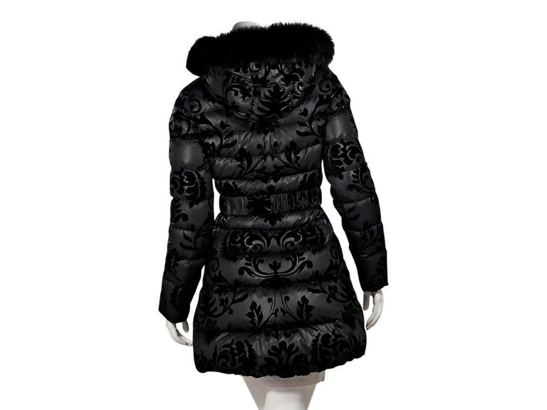 Women's Black Dawn Levy Fur-Lined Puffer Jacket For Sale