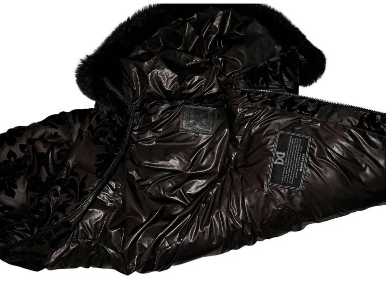 Black Dawn Levy Fur-Lined Puffer Jacket For Sale 1