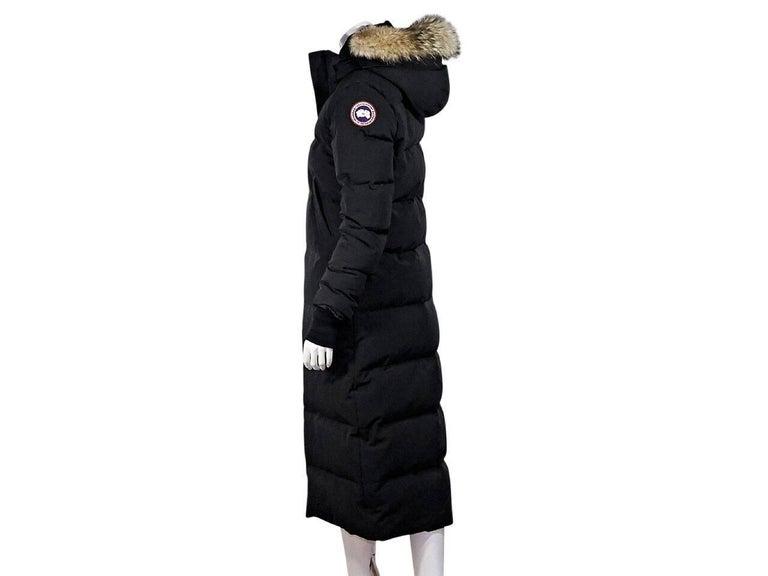 Black Canada Goose Fur-Trimmed Parka 2