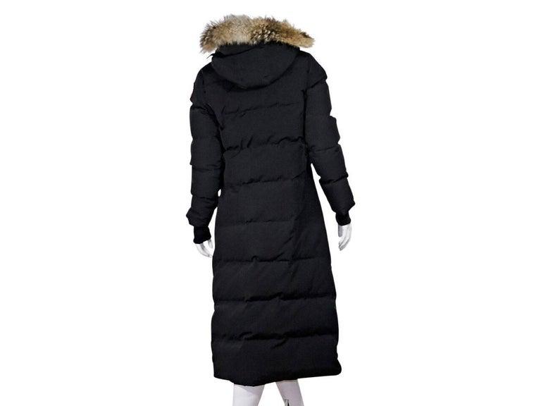Black Canada Goose Fur-Trimmed Parka 3