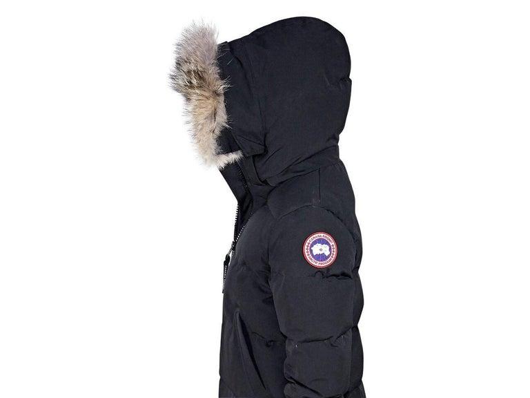 Black Canada Goose Fur-Trimmed Parka 4