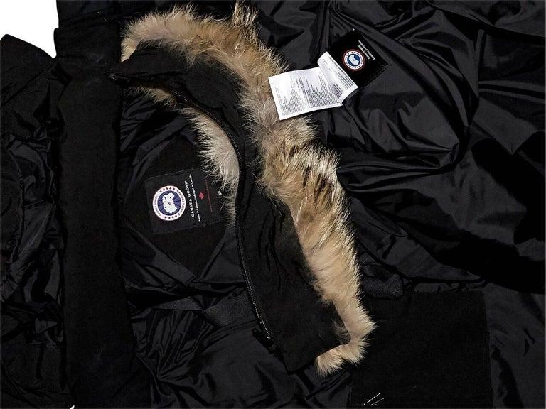 Black Canada Goose Fur-Trimmed Parka 5