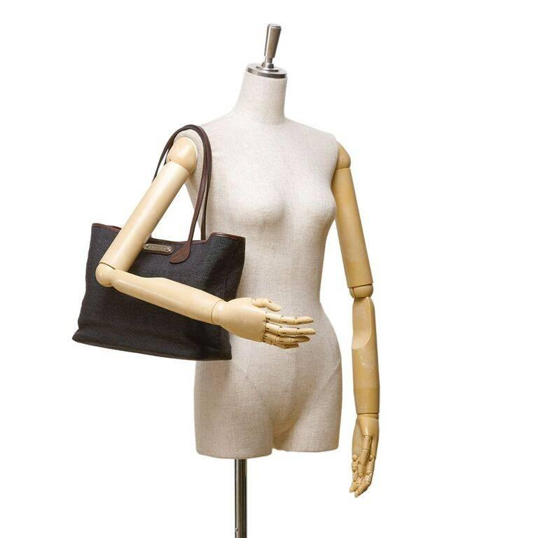 Black Céline Fiber Tote Bag 6