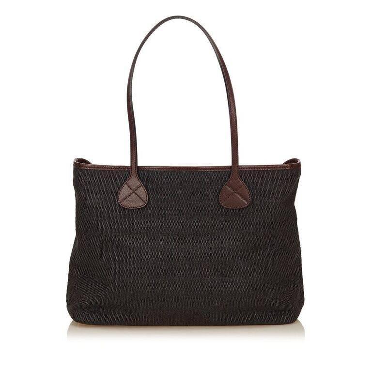 Black Céline Fiber Tote Bag 4