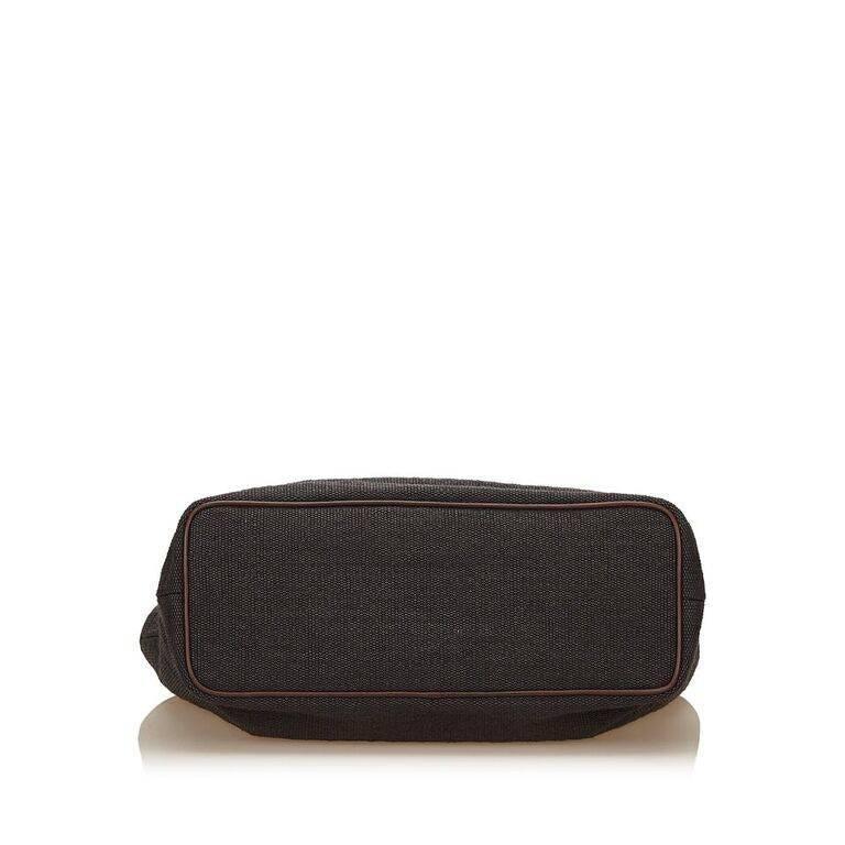Black Céline Fiber Tote Bag 5