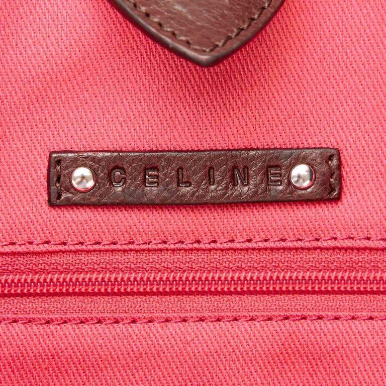 Black Céline Fiber Tote Bag 8