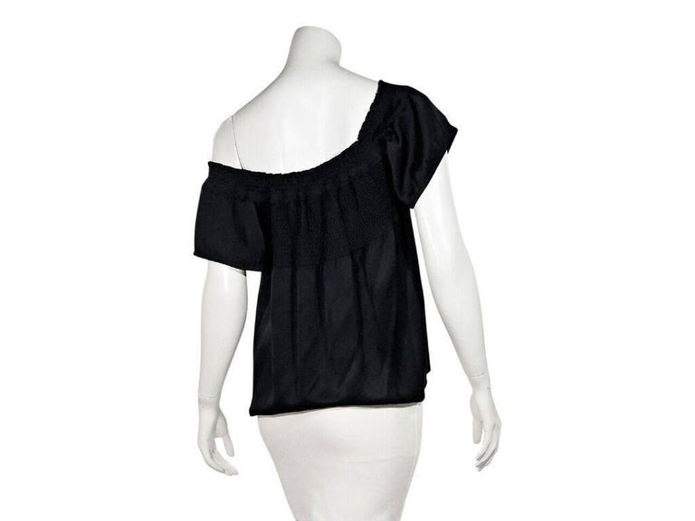 Chanel Black Off-The-Shoulder Top In Excellent Condition For Sale In New York, NY