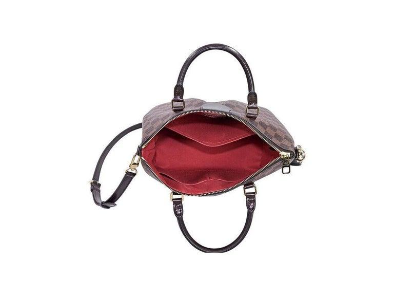 Women's Brown Louis Vuitton Damier Ebene Siena PM Bag For Sale