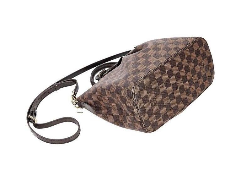Gray Brown Louis Vuitton Damier Ebene Siena PM Bag For Sale