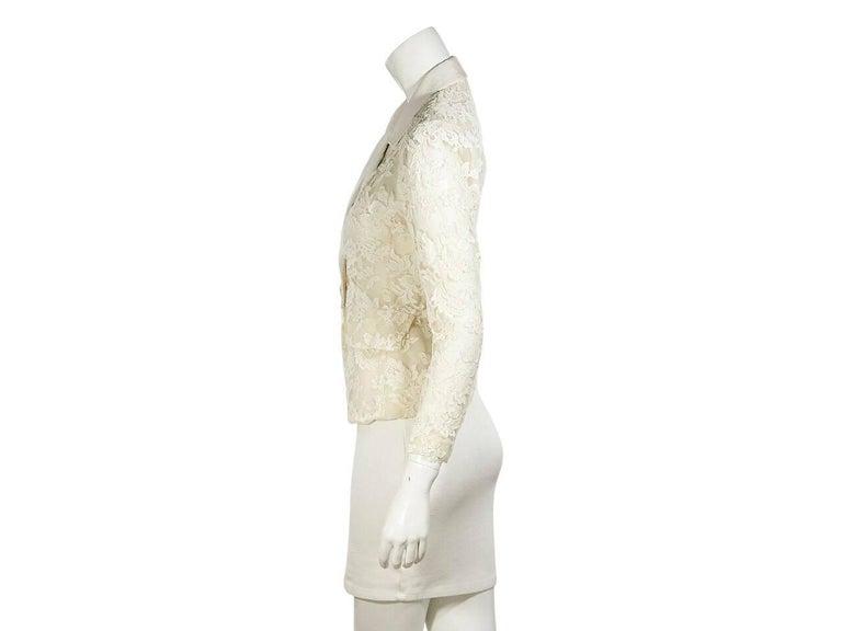 White Vintage Yves Saint Laurent Lace Blazer 2