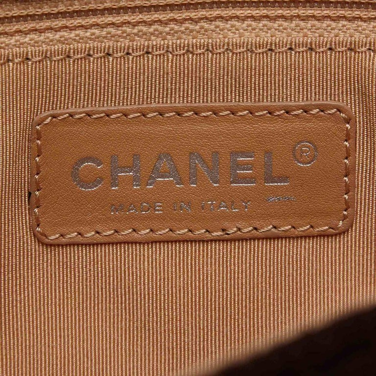 Brown Chanel Matelasse Quilted Wool Flap Bag 6