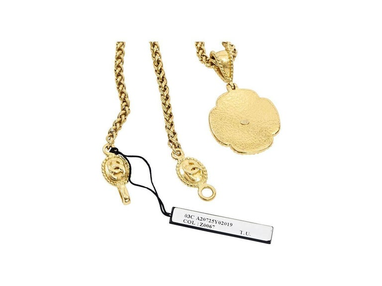 Women's Gold Vintage Chanel Pendant Necklace For Sale
