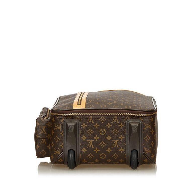 Louis Vuitton Brown Bosphore 50 Trolley Suitcase In Good Condition For Sale In New York, NY