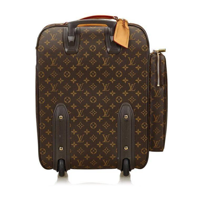 Black Louis Vuitton Brown Bosphore 50 Trolley Suitcase For Sale