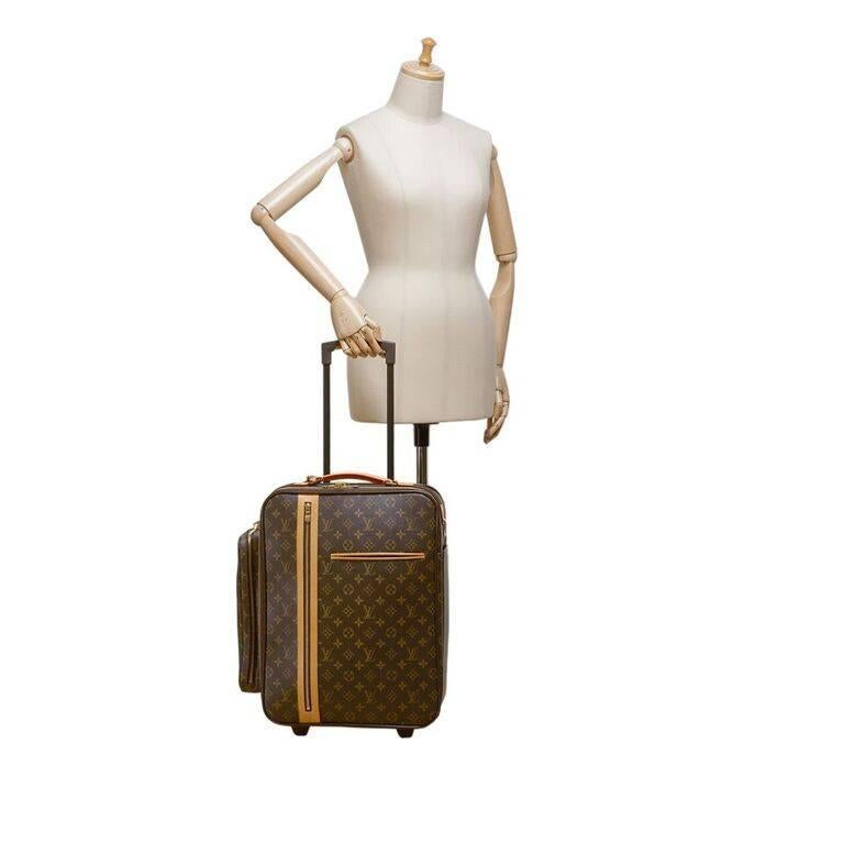 Louis Vuitton Brown Bosphore 50 Trolley Suitcase For Sale 4