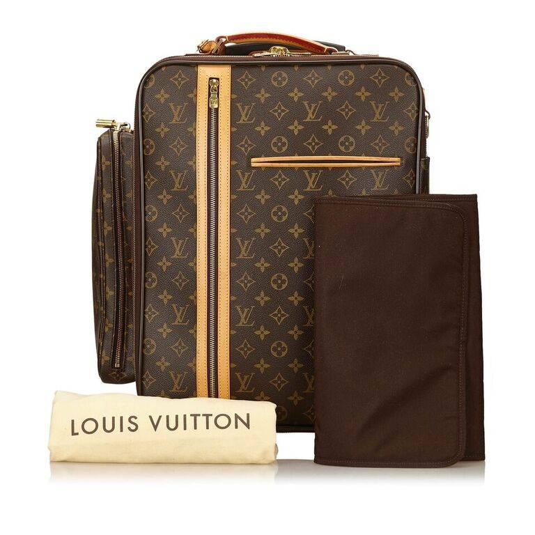 Louis Vuitton Brown Bosphore 50 Trolley Suitcase For Sale 5