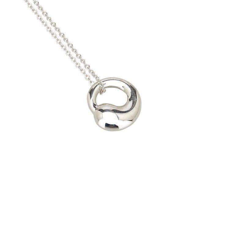 Sterling silver tiffany and co eternal circle pendant necklace for product details sterling silver pendant necklace by tiffany co eternal circle pendant mozeypictures Choice Image