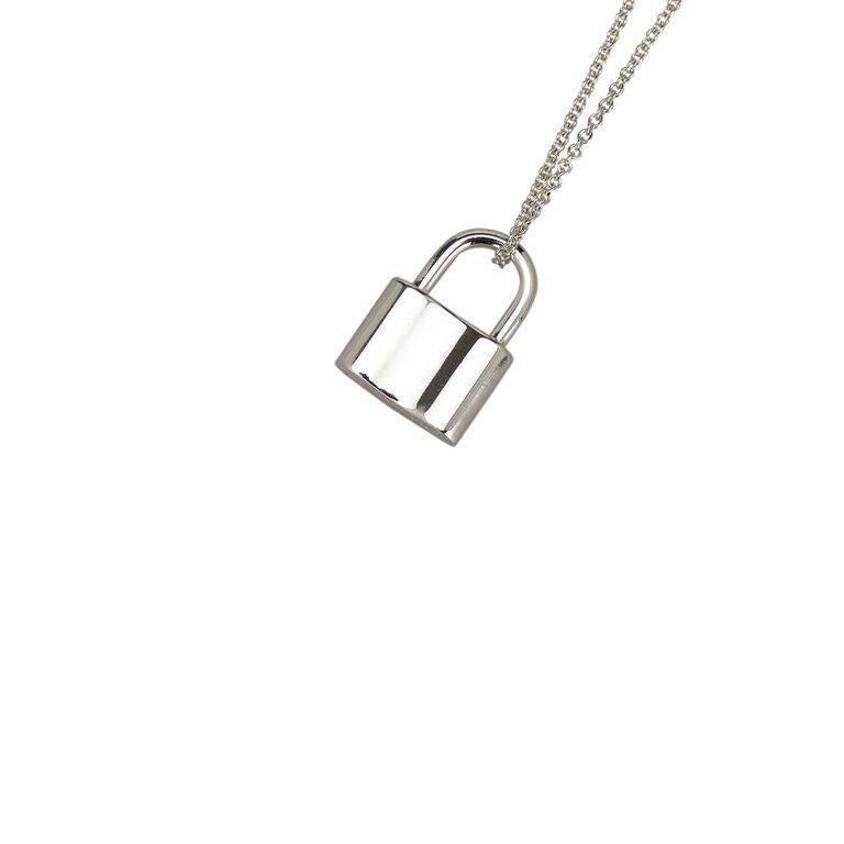 cf73ad372edb5 Sterling Silver Tiffany & Co. Padlock Pendant Necklace