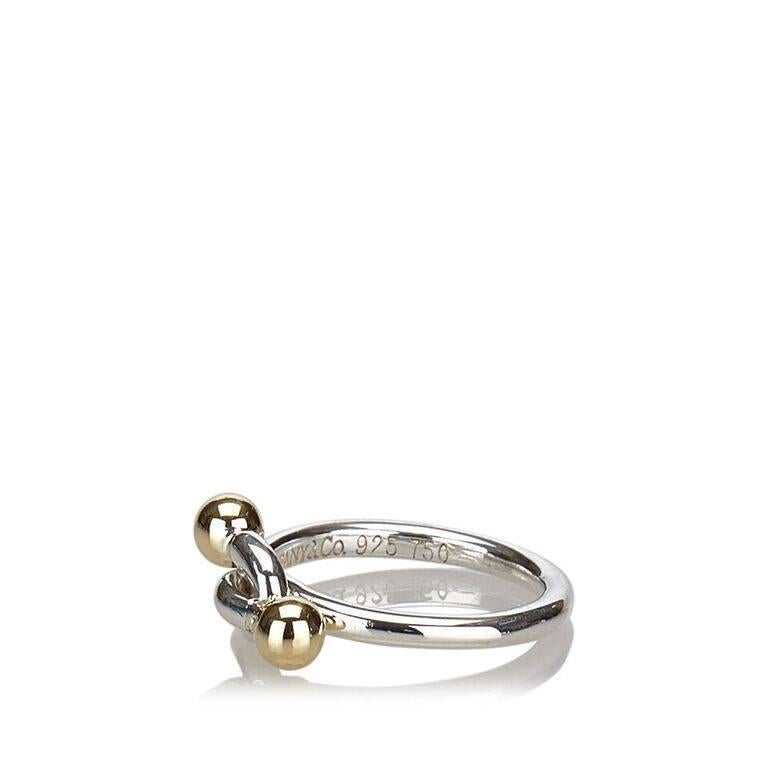 a67c007e1 Hook Ring For Sale. Product details: Sterling silver hook ring by Tiffany &  Co. Accented with yellow gold