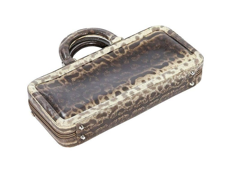 Black Tan Suarez Lizard Handbag For Sale