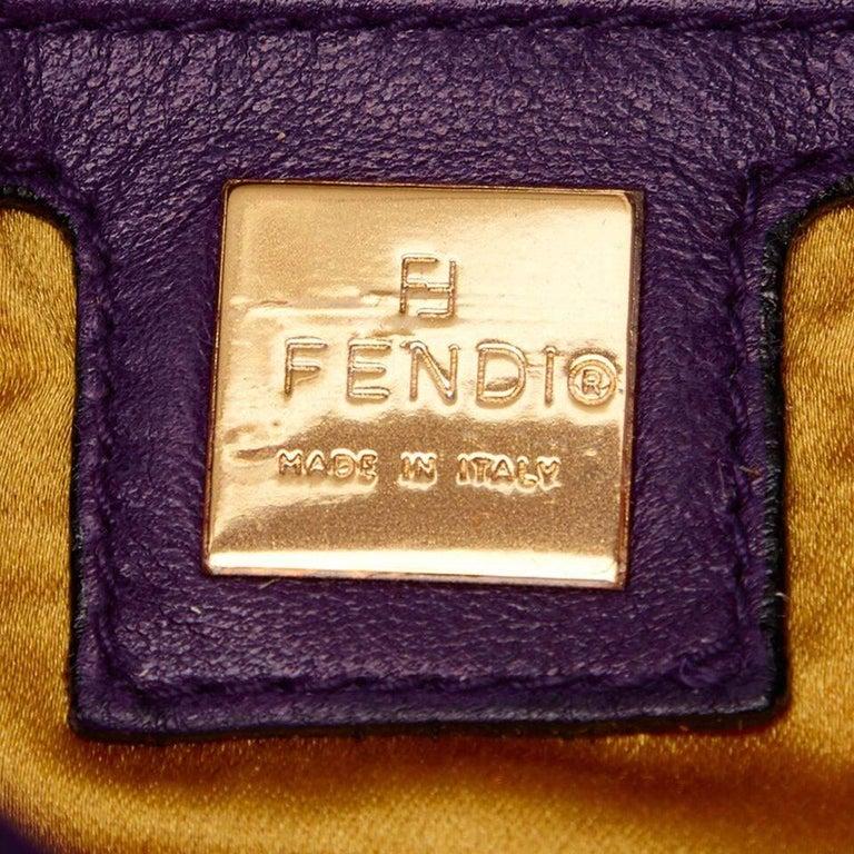Purple Fendi Nubuck Leather Baguette Bag 2
