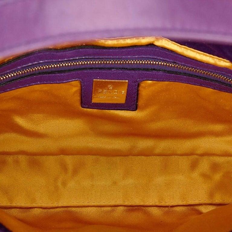 Purple Fendi Nubuck Leather Baguette Bag 1