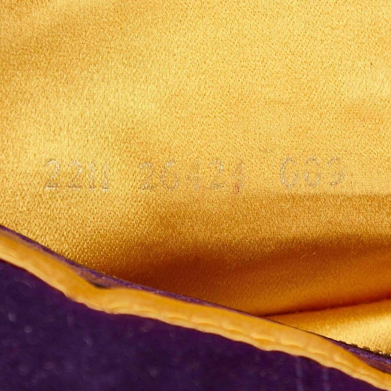 Purple Fendi Nubuck Leather Baguette Bag 3